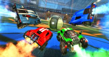"""Eine Szene aus dem Spiel """"Rocket League""""."""