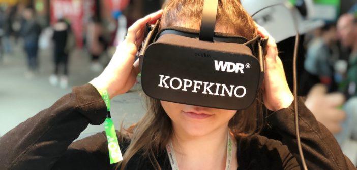 VR-Brille auf der Republica; Rechte: WDR/Schieb