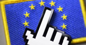 Mauszeiger auf EU-Flagge
