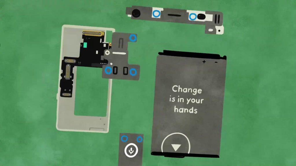 Es ist besser, wenn man Handys reparieren kann; Recjte: Fairphone