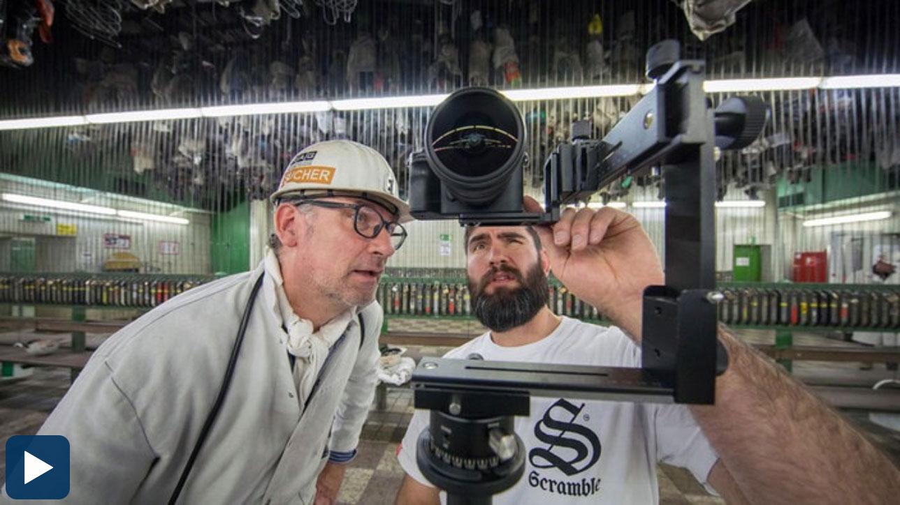 Virtual-Reality-Aufnahme im Bergwerk