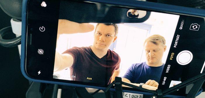 Dennis Horn und Jörg Schiebn machen den Podcast; Rechte: WDR/Schieb