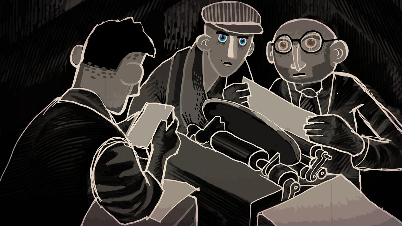 """Eine Szene aus """"Through The Darkest Of Times"""". (Bild: Paintbucket Games)"""