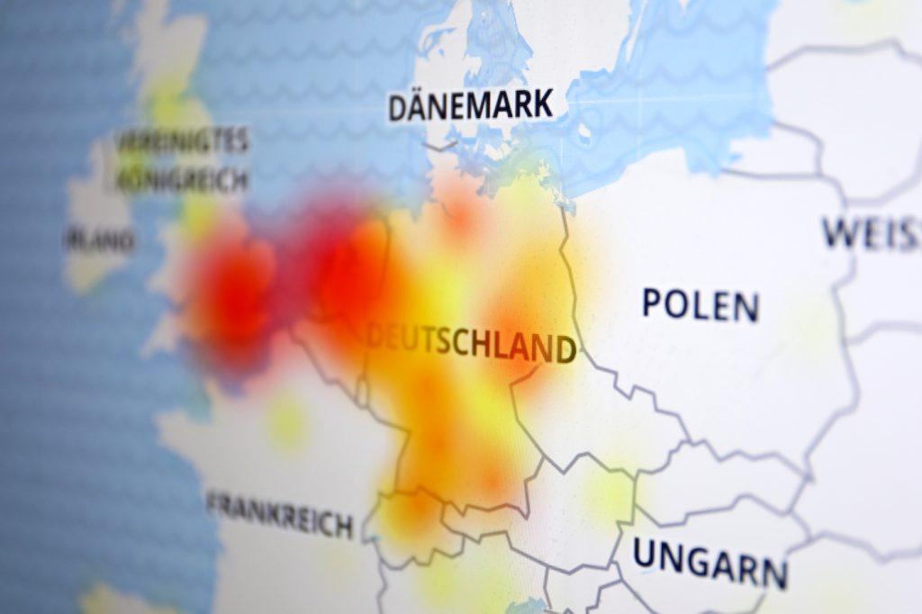 Störungen vor allem in Deutschland und Benelux; Rechte: WDR/Schieb