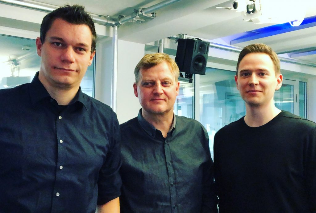 Dennis Horn, Jörg Schieb und Sebastian Kirsch bei der Aufzeichnung des Podcast; Rechte: WDR/Schieb