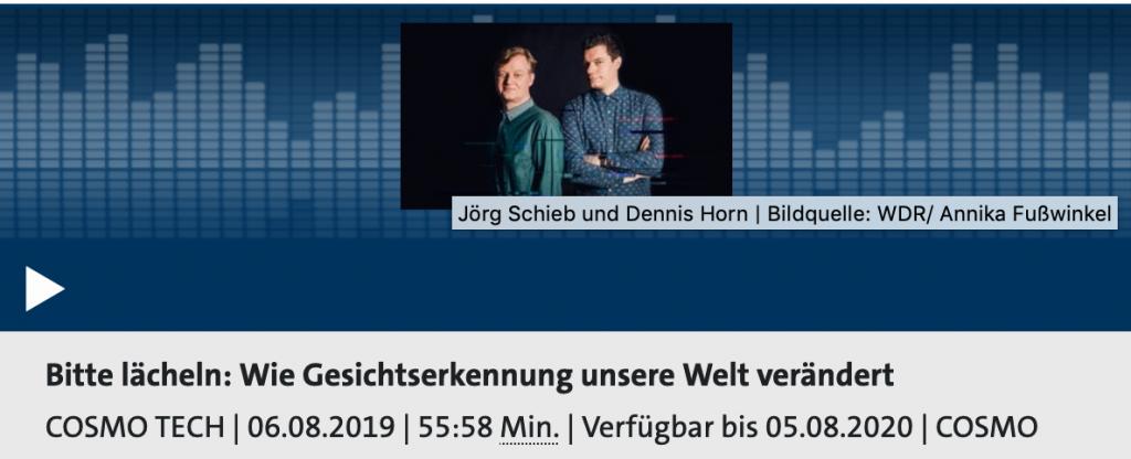 In der neuesten Ausgabe beschäften sich Dennis orn udn Jörg Schieb mit Gesichtserkennung; Rechte: WDR