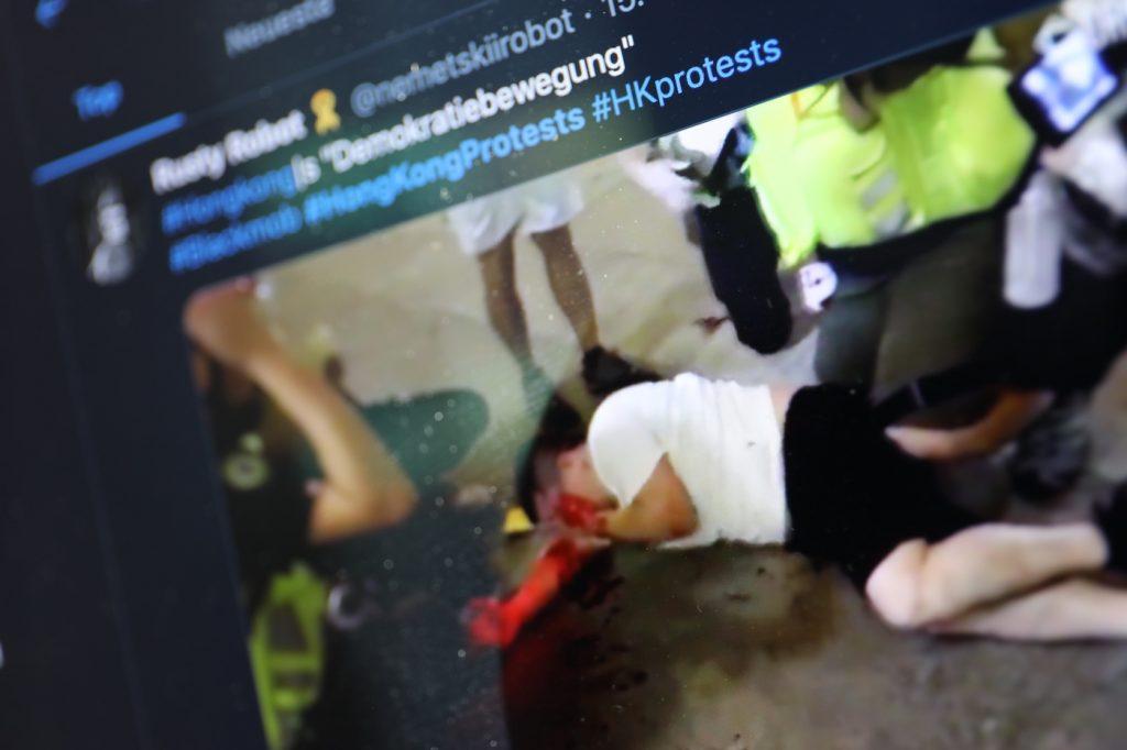 Hongkong-Proteste auf Twitter; Rechte: WDR/Schieb