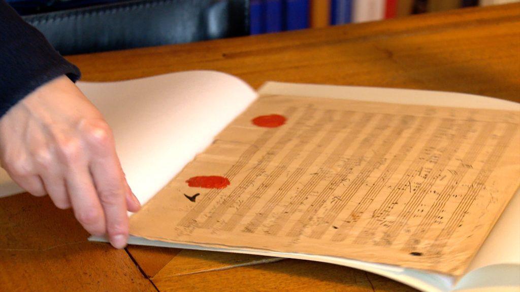 Die Noten der Symphonie liegen im Beethoven-Haus; Rechte: WDR