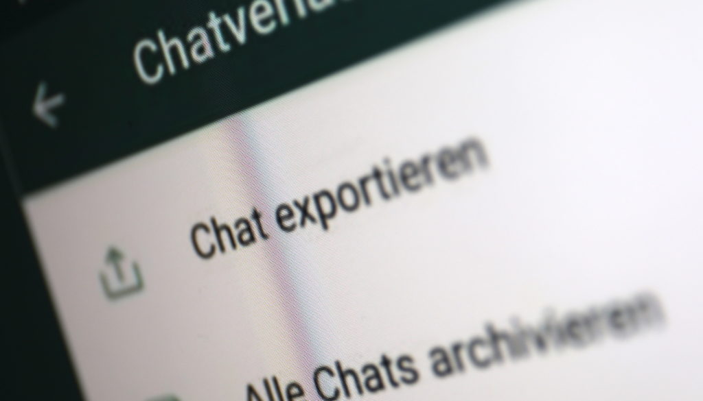 """Die Funktion """"Chat exportieren"""" gibt es bald nicht mehr; Rechte: WDR/Schieb"""