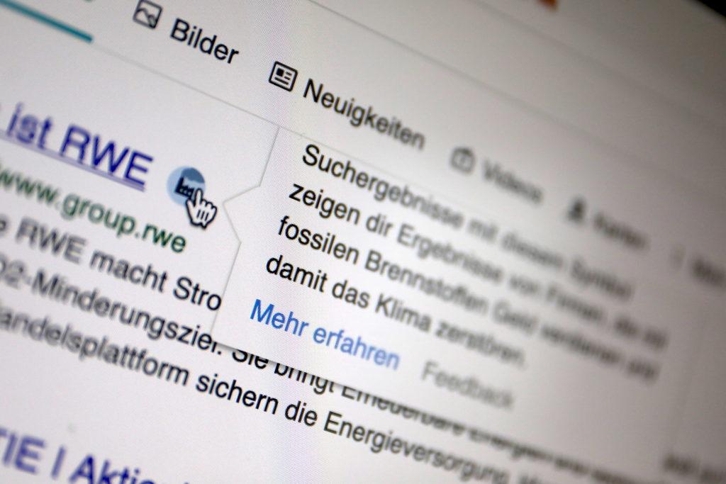 Ecosia markiert 200 Unternehmen als Klimasünder; Rechte: WDR/Schieb
