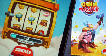 "Szenen aus dem App-Game ""Coin Master"". Bild: WDR/ Thomas Ruscher"