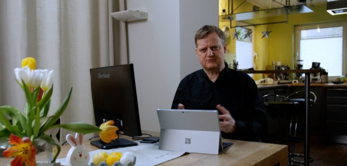 Jörg Schieb im Home Office; Rechte: WDR/Schieb