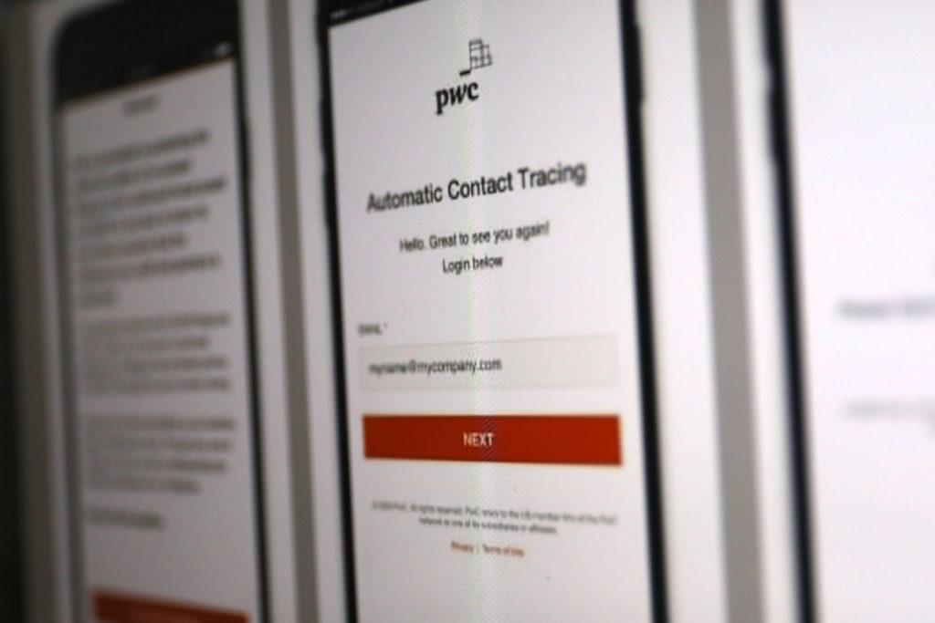 Tracing App von PWC: Tracking im Büro; Rechte: WDR/Schieb