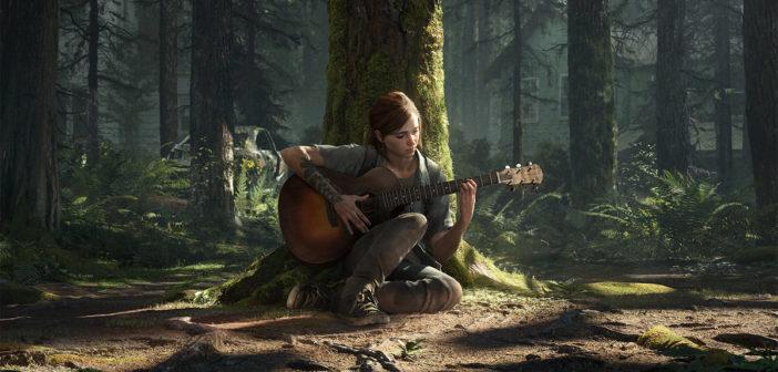 "Eine Szene aus dem Spiel ""The Last of Us 2"": Protagonistin Ellie spielt Gitarre. Bild: Sony / Naughty Dog"