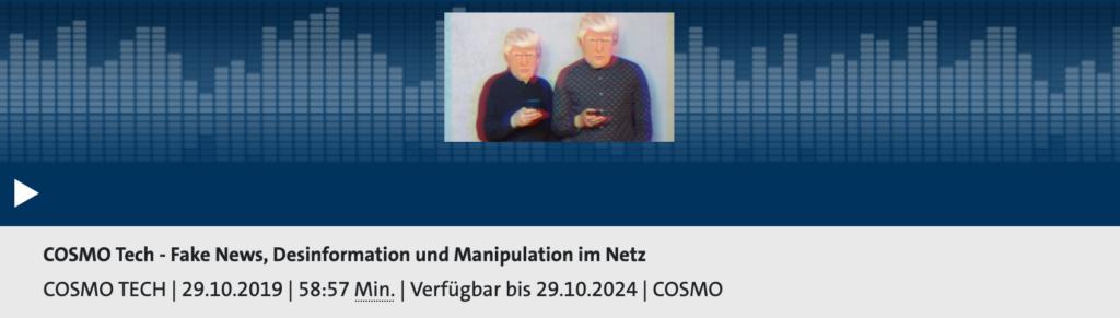 Cosmotech Podcast: Heute schon getäuscht worden? Rechte: WDR/Schieb