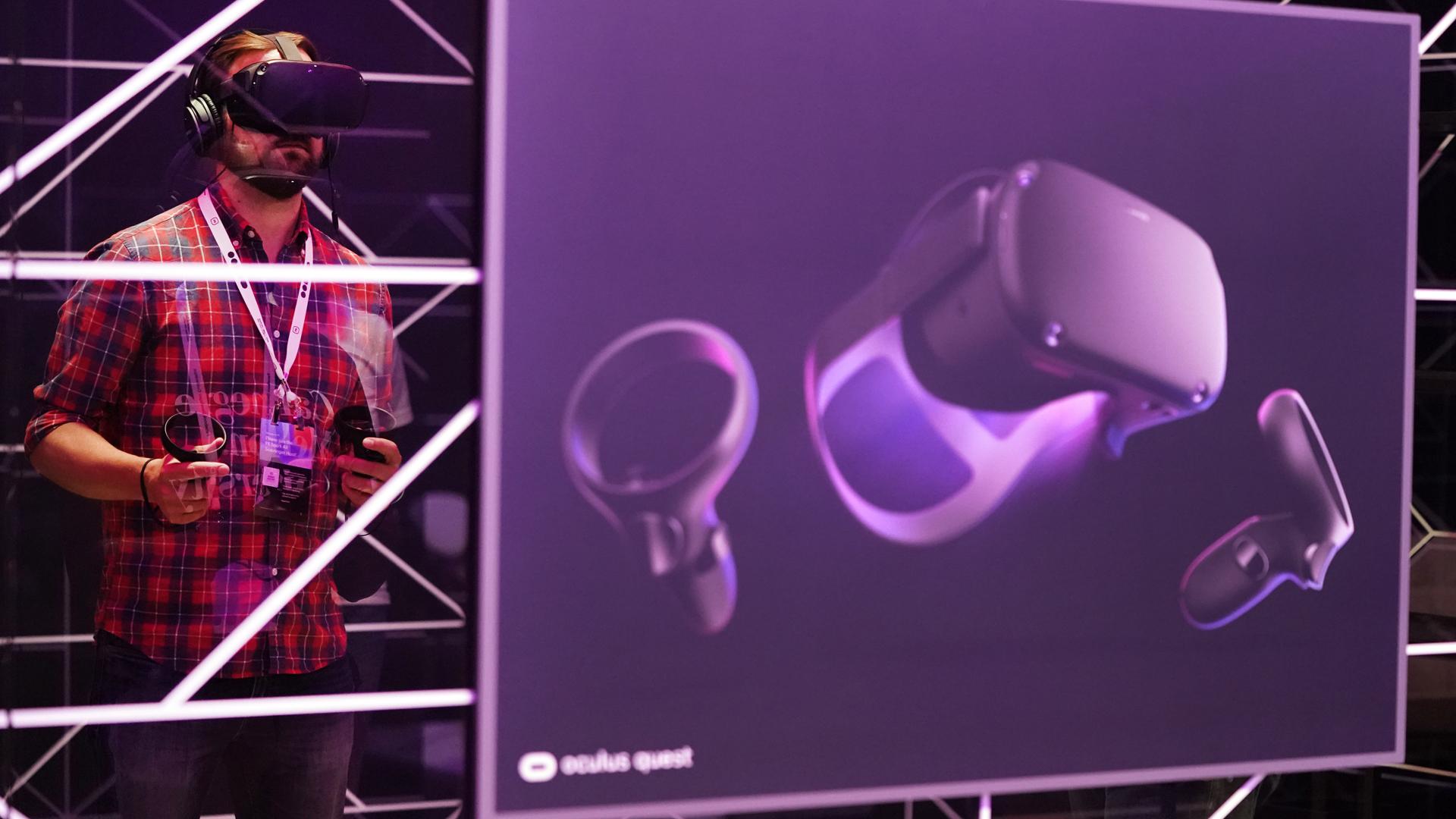 Ein Bild von der Oculus Quest. Bild: picture alliance/ AP