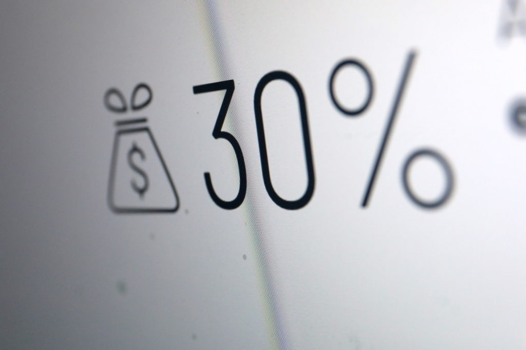 Knackpunkt der Kritik: 30% Provision für jeden Verkauf im App-Store; Rechte: WDR/Schieb