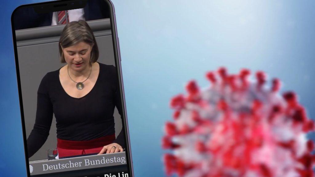 Anke Domscheit-Berg (medienpolitische Sprecherin Die Linke) findet die App gut - kritisiert aber die mangelhafte Kommunikation; Rechte: WDR/Schieb