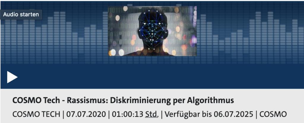 Cosmo Tech Podcast: Diskriminierung in Algorithmen ist nichts Ungewöhnliches; Rechte: WDR