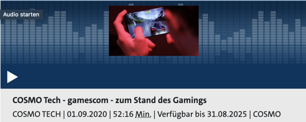 Cosmo Tech: Gamescom - Stand des Gamings