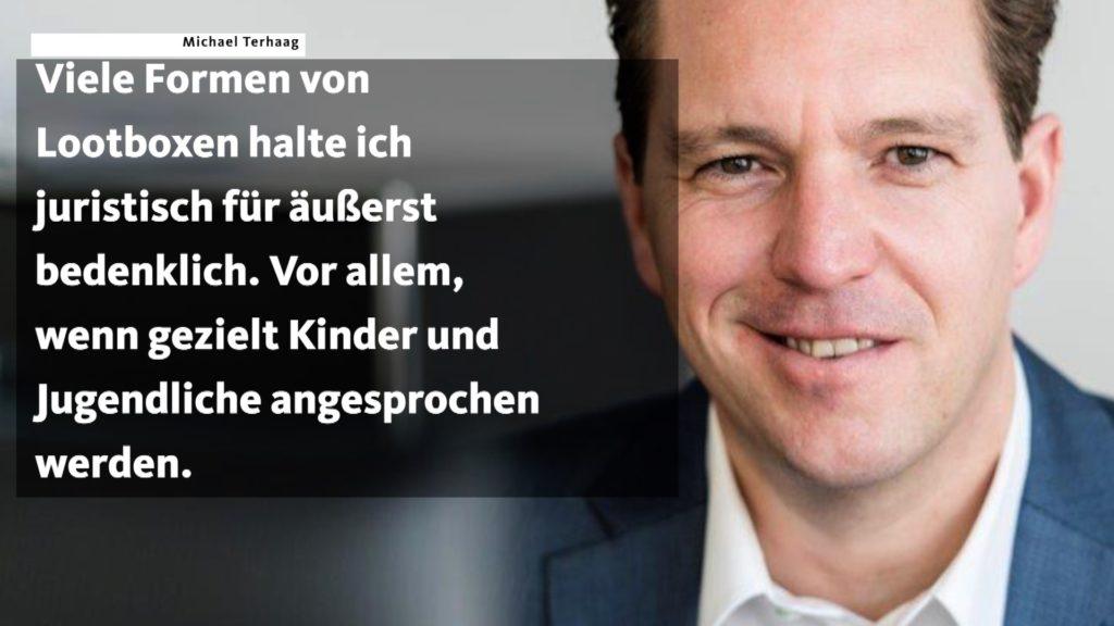 Fachanwalt Michael Terhaag hält Lootboxen für juristisch äußerst bedenklich; Rechte. WDR/Schieb