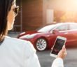 Komplett per App steuern: Bei modernen Autos kein Problem; Rechte: WDR/Tesla