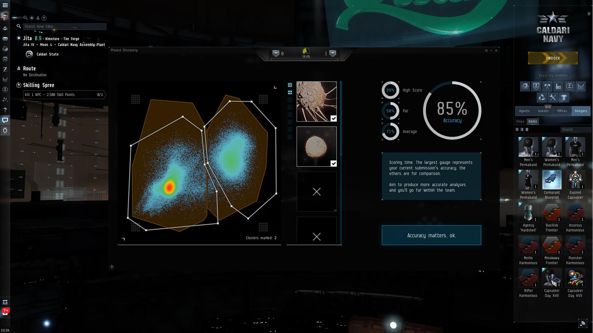 """So wird in """"Eve Online"""" eine wissenschaftliche Analyse durchgeführt. Bild: CCP Games"""
