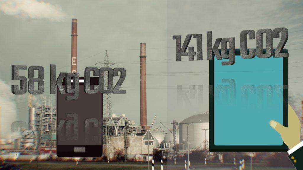 Der CO2-Ausstoß bei der Produktion moderner Digitalgreäte ist enorm; Rechte: WDR/Schieb