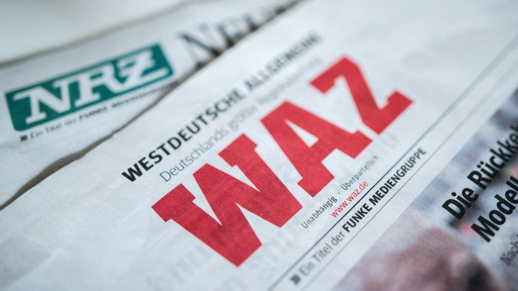 Notausgabe der WAZ und NRZ