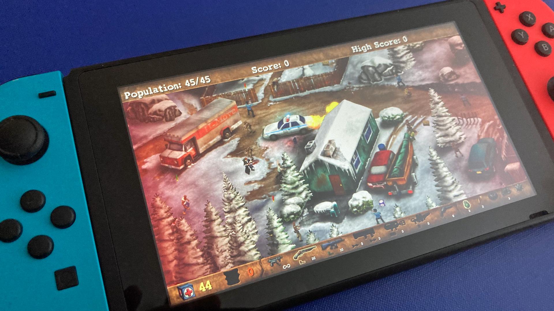 """Eine Szene aus dem Spiel """"Postal Redux"""" auf der Nintendo Switch. Bild: WDR/Thomas Ruscher"""