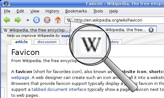 Favicons sind die kleinen Vorschaubilder für Webseiten in der Favoritenliste; Rechte: WDR/Schieb/Wikipedia
