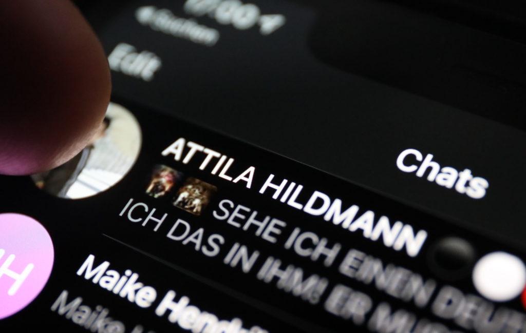 Telegram Atila Hildmann; Rechte: WDR/Schieb