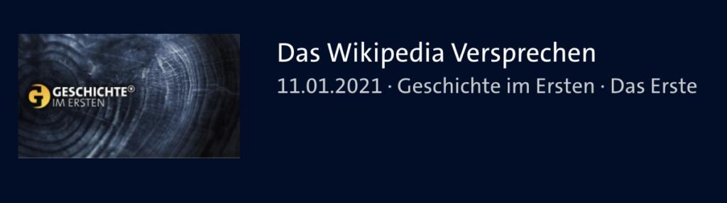 Dokumentation: Das Wikipedia Versprechen