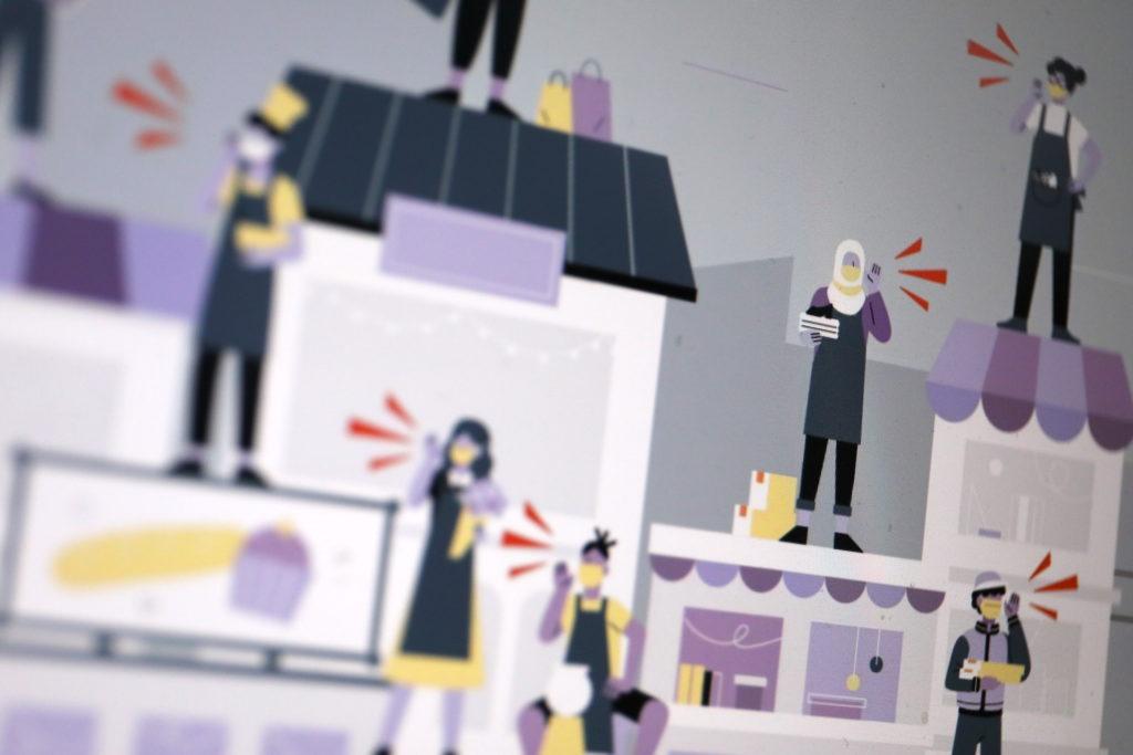 Kampagne von Facebook: Die kleinen Ladenbesitzer in den Vordergrund gerückt; Rechte: WDR/Schieb