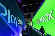 Auf der E3 stehen sich Messestände von Playstation und Xbox gegenüber. Bild: picture alliance / dpa / Michael Nelson