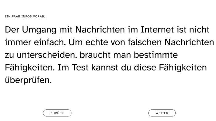 der-newstest.de - hier lässt sich die eigene Nachrichtenkompetenz prüfen