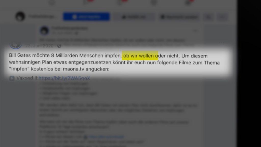 Ungenierte Falschinformationen auf Instagram; Rechte: WDR/Schieb
