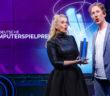 Barbara Schöneberger und Uke Bosse beim Deutschen Computerspielpreis 2021. Bild: Franziska Krug/Getty Images for Quinke Networks
