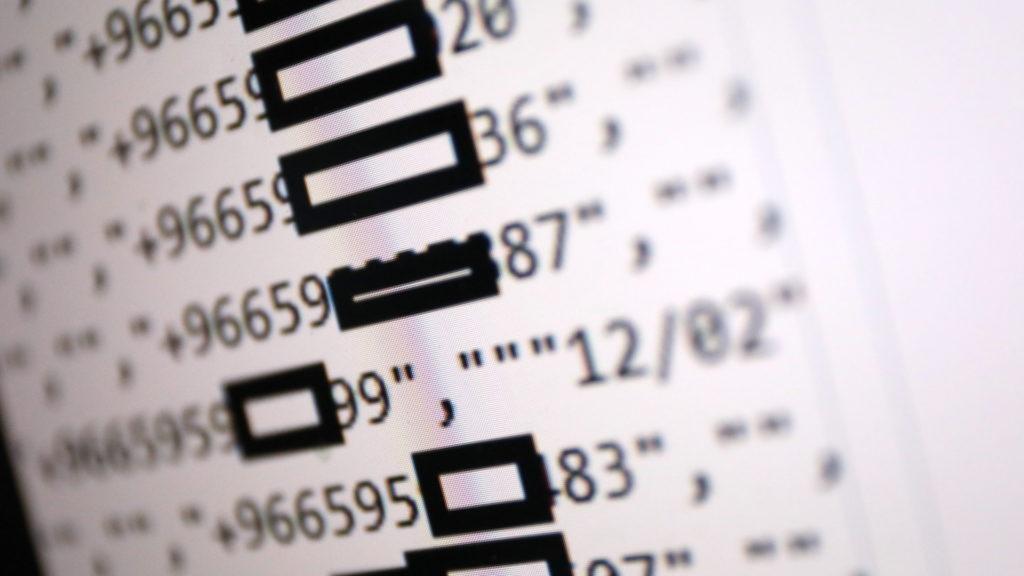 Eindeutig sind Telefonnummern in den Datensätzen enthalten (hier verfremdet); Rechte: WDR/Schieb