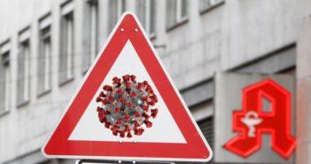 Symbolbild: Warnschild Corona