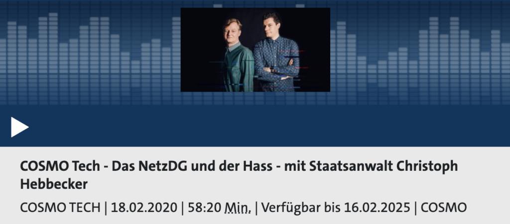 Cosmo NetzDG