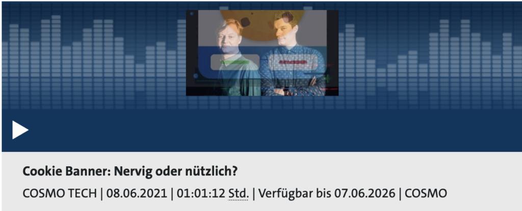 Cosmo Tech: Nervig oder nützlich - Cookie Banner, Rechte: WDR/Schieb