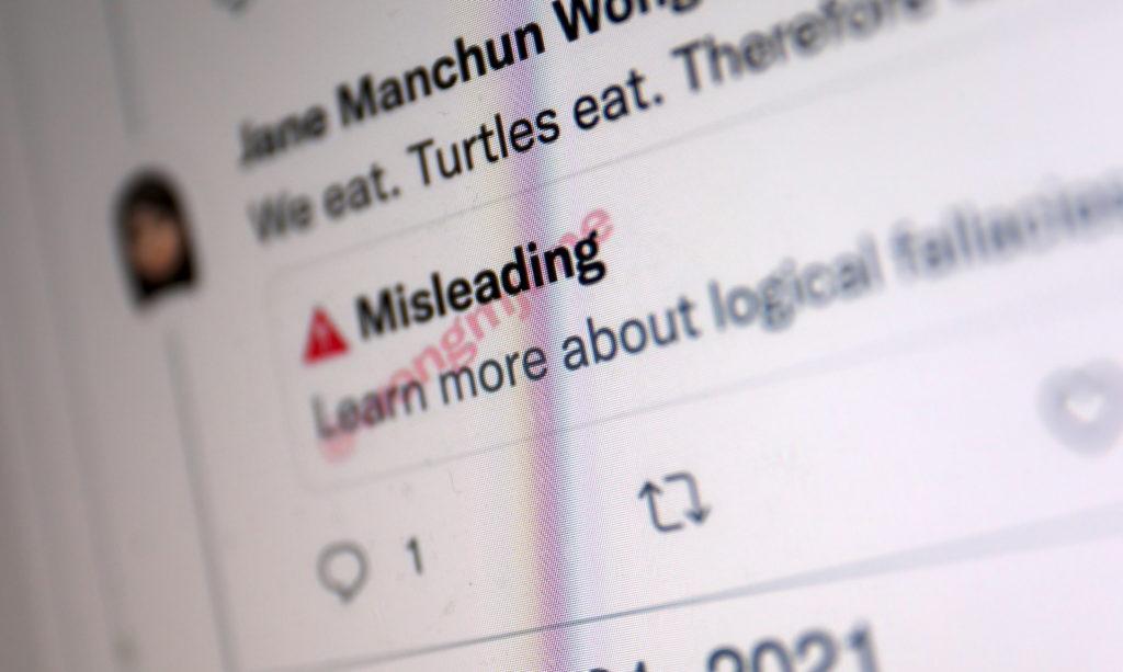 Misleading: Twitter-Nachrichten markiert und erweitert; Rechte: WDR/Schieb