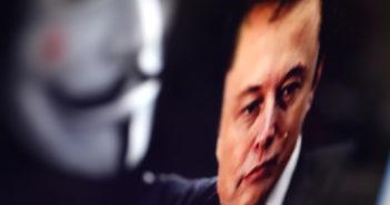 Anonymous kritisiert Elon Musk; Rechte. WDR/Schieb