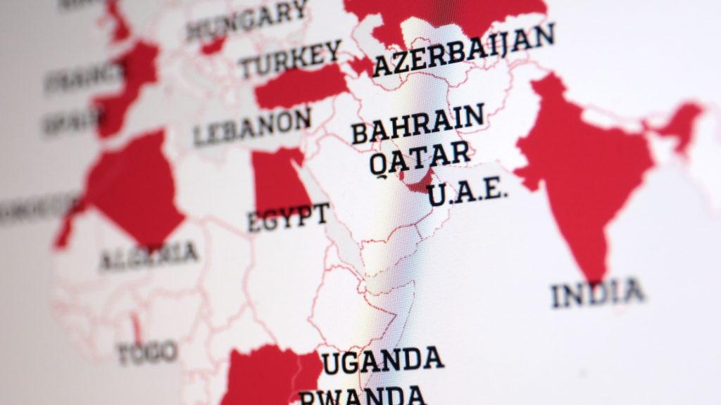 Länder, die Kunden bei NSO sind; Rechte: WDR/Schieb