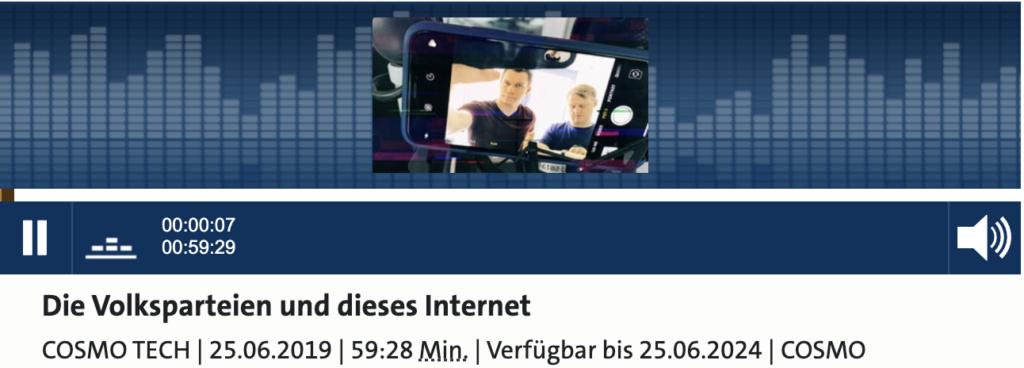 Die Volksparteien und dieses Internet; Rechte: WDR