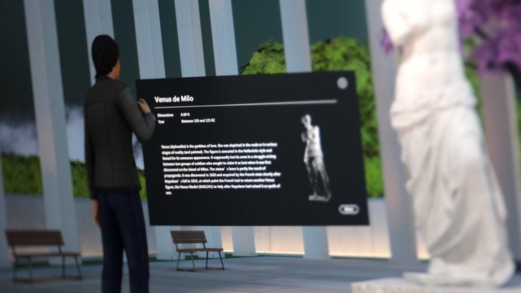 Beim Besuch im virtuellen Museum Zusatzinfos angezeigt bekommen; Rechte: WDR/Schieb