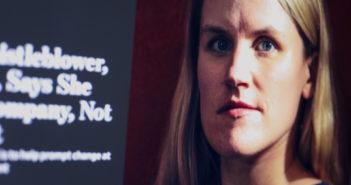 Whistleblowerin Frances Haugen kritisiert Facebook öffentlich; Rechte: WDR/Schieb