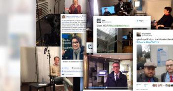 Kandidaten in Sozialen Netzwerken