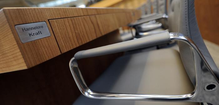 leerer Stuhl im NRW-Landtag